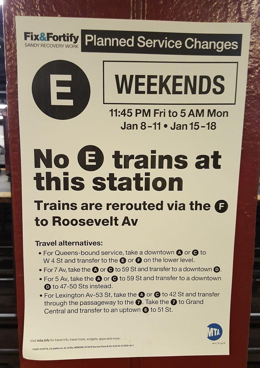 changements-metro-weekend-new-york-city