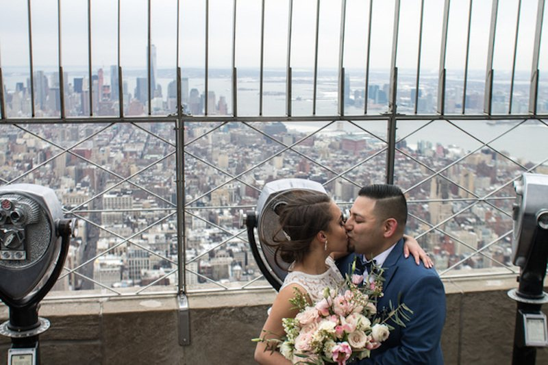 Couples Tie the Knot Atop the Empire State Building for Valentine's Day